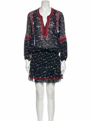 Ulla Johnson Silk Mini Dress Blue