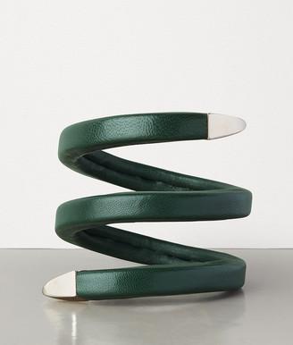 Bottega Veneta Bracelet In Sterling Silver And Nappa