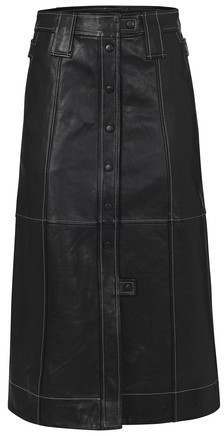 Thumbnail for your product : Ganni Lamb leather skirt