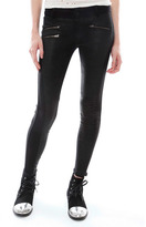 Siwy Denim Mick Leather Pant with Zippers in Crave