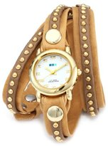 La Mer Women's LMSW3003 Camel Gold Bali Stud Wrap Watch