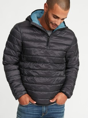 Old Navy Water-Resistant Quilted 1/4-Zip Hooded Jacket for Men