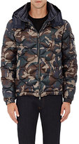 Moncler Men's Camouflage Tech-Fabric Hooded Puffer Jacket-GREEN