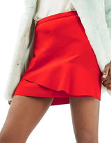 Topshop Wave-Front Mini Skirt