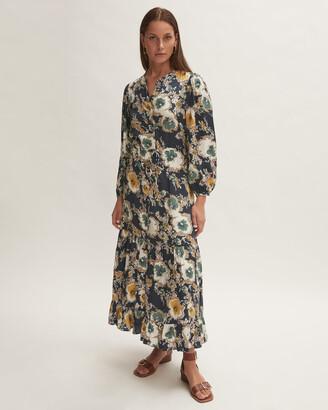 Jigsaw Vintage Floral Tiered Dress