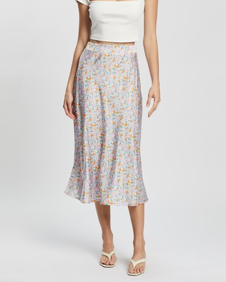 Atmos & Here Atmos&Here - Women's Multi Midi Skirts - Rosie Midi Skirt - Size 14 at The Iconic