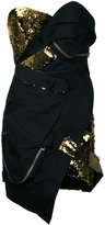 Alexandre Vauthier sequin bustier mini dress - women - Cotton/Polyester - 36