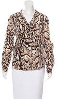 Diane von Furstenberg Silk Leopard Print Top