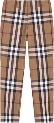 Burberry Check Trousers in Birch Brown Check | FWRD