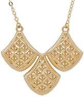 Macy's Filigree Triple Drop Pendant Necklace in 10k Gold