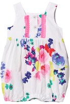 Joules White Floral Print Romper