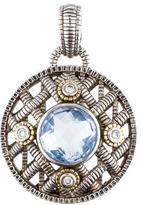Judith Ripka Diamond & Blue Quartz Pendant