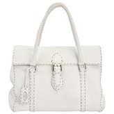 Fendi White Leather Handbag