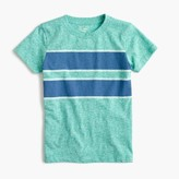J.Crew Boys' heather double-stripe T-shirt in the softest jersey