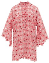 La Vie Style House - No. 106 Heart-lace Kaftan Dress - Womens - Red