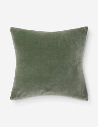 Lulu & Georgia Charlotte Velvet Pillow, Moss