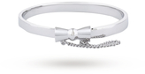 Disney White Gold Plated Minnie Mouse Classic Bow Bangle