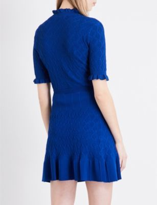 Sandro Diamond-pattern knitted jumper