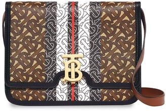 Burberry medium monogram stripe e-canvas TB bag