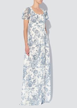 Erdem Rick Floral-Print Silk Victorian Gown