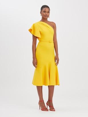 Oscar de la Renta One-Shoulder Dress