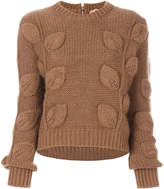 brown cropped sweater - ShopStyle