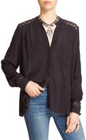 Free People The Best Button Front Blouse