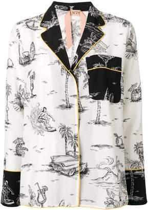 No.21 holiday print shirt