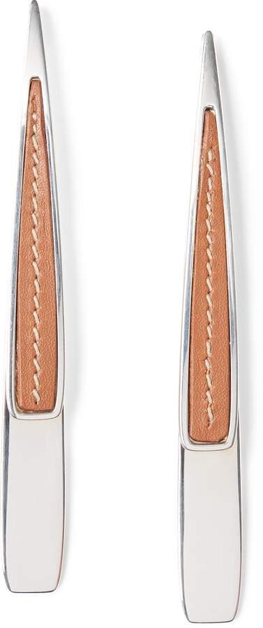 Ralph Lauren Sterling-Calfskin Earrings