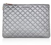 M Z Wallace Metro Quilted Metallic Nylon Pouch