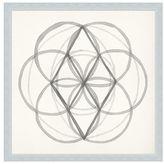 Pottery Barn Neutral Sacred Geometry Framed Print 1