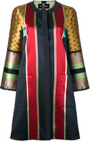 Etro striped jacquard coat - women - Polyester/Viscose - 42