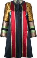 Etro striped jacquard coat