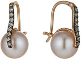 Le Vian 14ct Strawberry Gold pearl 16 point diamond earrings