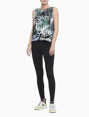 Calvin Klein Printed Logo Sleeveless Tank Top