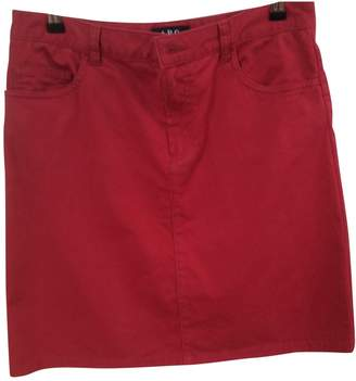 A.P.C. Red Cotton Skirt for Women