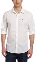 Victorinox Men's Villamont Tailored Fit Long Sleeve Solid Strech Shirt