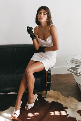 Nasty Gal Womens Sought After Satin Cowl Dress - Black - 4