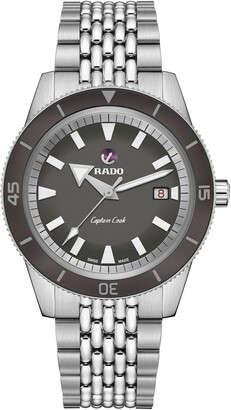Rado Captain Cook Automatic Watch with Bracelet, Leather & Woven Straps, 42mm