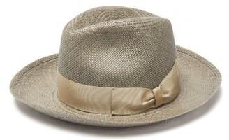 Borsalino Amedo Woven-straw Panama Hat - Mens - Grey