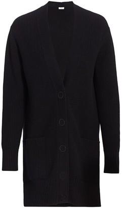 Akris Punto Circle Button Wool & Cashmere Ribbed Cardigan