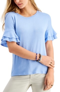 Style&Co. Style & Co Flutter-Sleeve Top, Created for Macy's