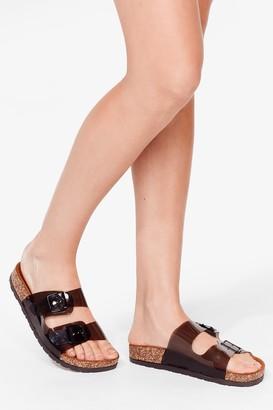 Nasty Gal Womens Walk It Talk It Buckle Sandals - Black