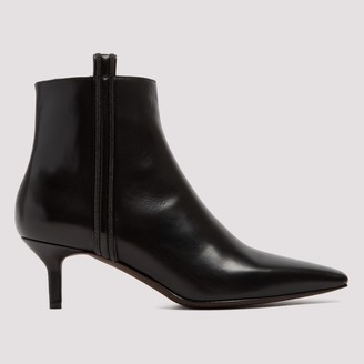 Brunello Cucinelli Pointed-Toe Ankle Boots