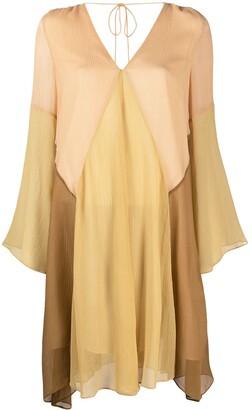 Dorothee Schumacher Summer Heat colour-block silk dress