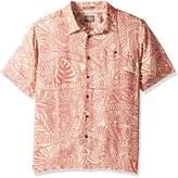 Quiksilver Men's Tribal Dance Button Down Floral Shirt