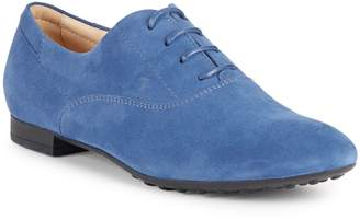 Tod's Lace-Up Suede Oxfords