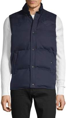 John Varvatos Cotton-Blend Puffer Vest