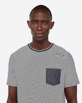 Express Striped Moisture-Wicking Stretch T-Shirt