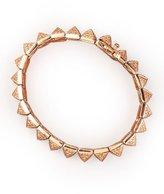 Eddie Borgo Small Pave Pyramid Bracelet, Rose Gold